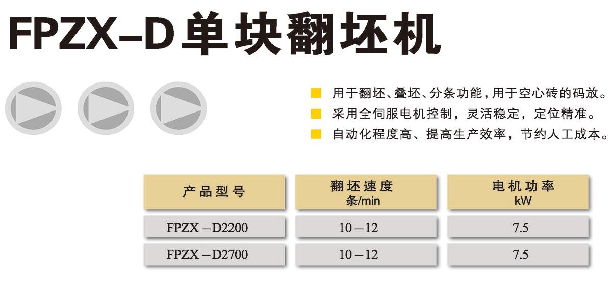 FPZX-D 单块翻坯机